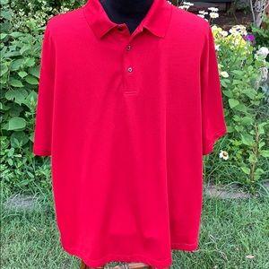 Grand Slam deep red golf shirt 3X